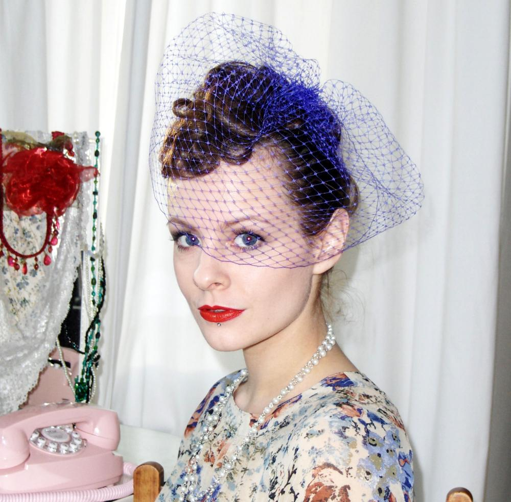 Birdcage Veil, Purple.