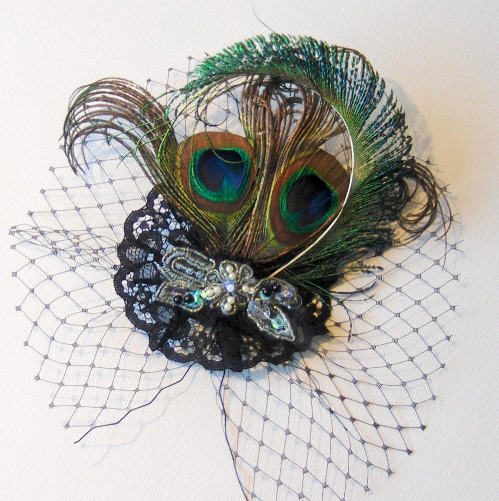Peacock Feather Fascinator.