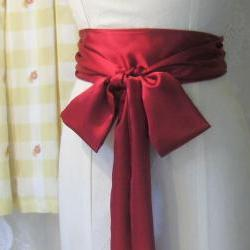Satin Sash Ruby Red.