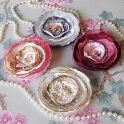 Shabby chic corsage.